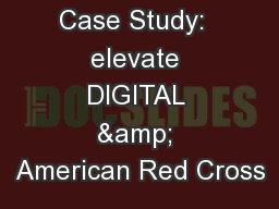 Case study american red cross