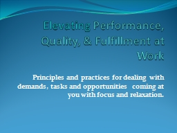 Elevating PowerPoint PPT Presentation