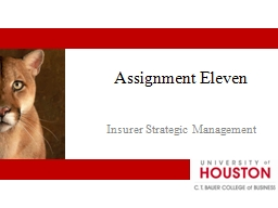 Assignment Eleven