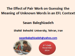 The Effect of Pair Work on Guessing the Meaning of Unknown