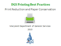 Print Reduction and Paper
