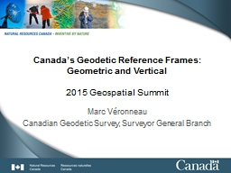 Canada's Geodetic Reference Frames: