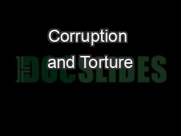 Corruption and Torture