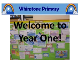 Welcome to Year One!