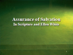 Assurance of Salvation PowerPoint Presentation, PPT - DocSlides