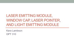 Laser emitting module, window cap, laser pointer, and light