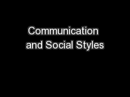 Communication Styles - PPT