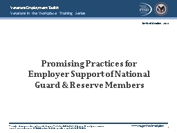 Promising Practices for Employer Support of National Guard PowerPoint PPT Presentation