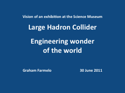 Vision of an exhibition at the Science