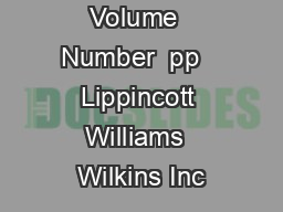 lippincott williams wilkins