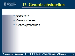 13  Generic abstraction