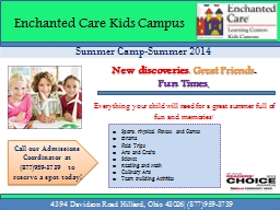 Summer Camp-Summer 2014 PowerPoint Presentation, PPT - DocSlides