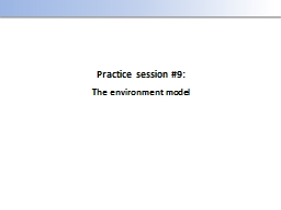 Practice session #9: