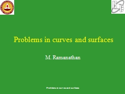 Problems in curves and surfaces