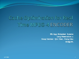 Cache Optimization for Real Time MPEG-4