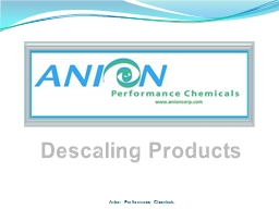 Anion Performance Chemicals