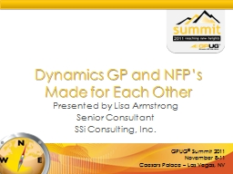 Dynamics GP and NFP's