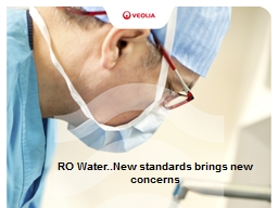 RO Water..New standards brings new concerns