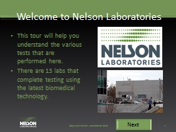 Welcome to Nelson Laboratories