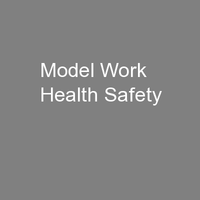 Model Work Health Safety