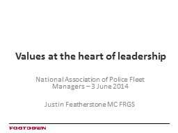 Values at the heart of leadership PowerPoint PPT Presentation