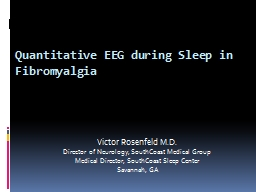 Quantitative EEG during Sleep in PowerPoint PPT Presentation