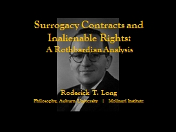 Surrogacy Contracts and Inalienable Rights: