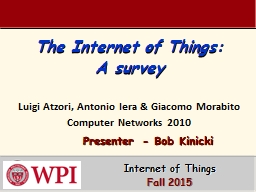 The Internet of Things: