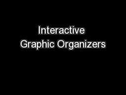 Interactive Graphic Organizers