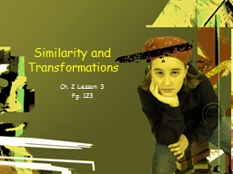 Similarity and Transformations