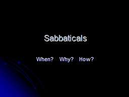 Sabbaticals PowerPoint PPT Presentation