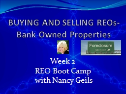 BUYING AND SELLING REOs-