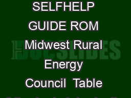 Stray Voltage Detection A SELFHELP GUIDE ROM Midwest Rural Energy Council  Table of Contents Introduction