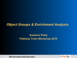 Object Groups & Enrichment Analysis