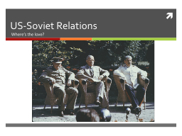 US-Soviet Relations PowerPoint PPT Presentation