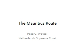 The Mauritius Route