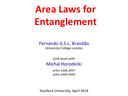 Area Laws for Entanglement PowerPoint PPT Presentation
