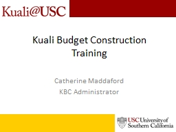 Kuali Budget PowerPoint PPT Presentation