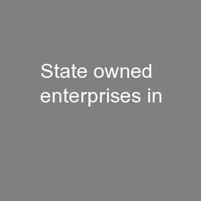 State owned enterprises in
