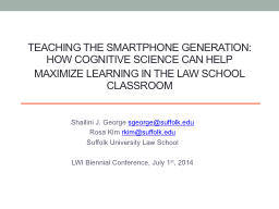 Teaching the smartphone generation: