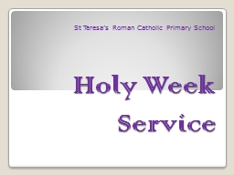 Holy Week Service