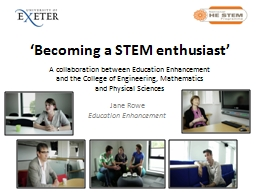 'Becoming a STEM enthusiast'