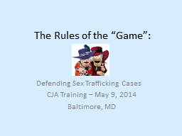 """The Rules of the """"Game"""": PowerPoint PPT Presentation"""