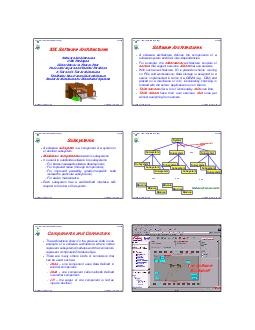 John Mylopoulos CSC Information Systems Analysis and Design Software Architectures   XIX