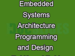 Chapter  L Embedded Systems Architecture Programming and Design  Raj Kamal Publs