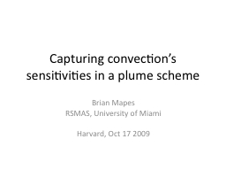 Capturing convection's sensitivities in a plume scheme
