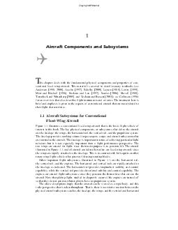 Aircraft Components and Subsystems his chapter deals with the fundamental physical components and properties of con ventional xedwing aircraft