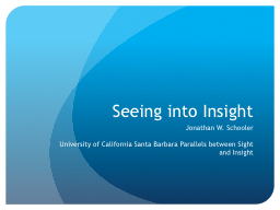 Seeing into Insight
