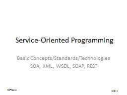 Service-Oriented Programming PowerPoint PPT Presentation