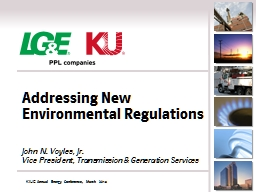 Addressing New Environmental Regulations